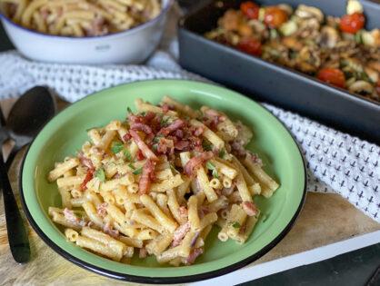 Pasta met Boursin en spekjes: super simpel recept