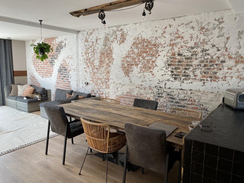 brickwall woonkamer