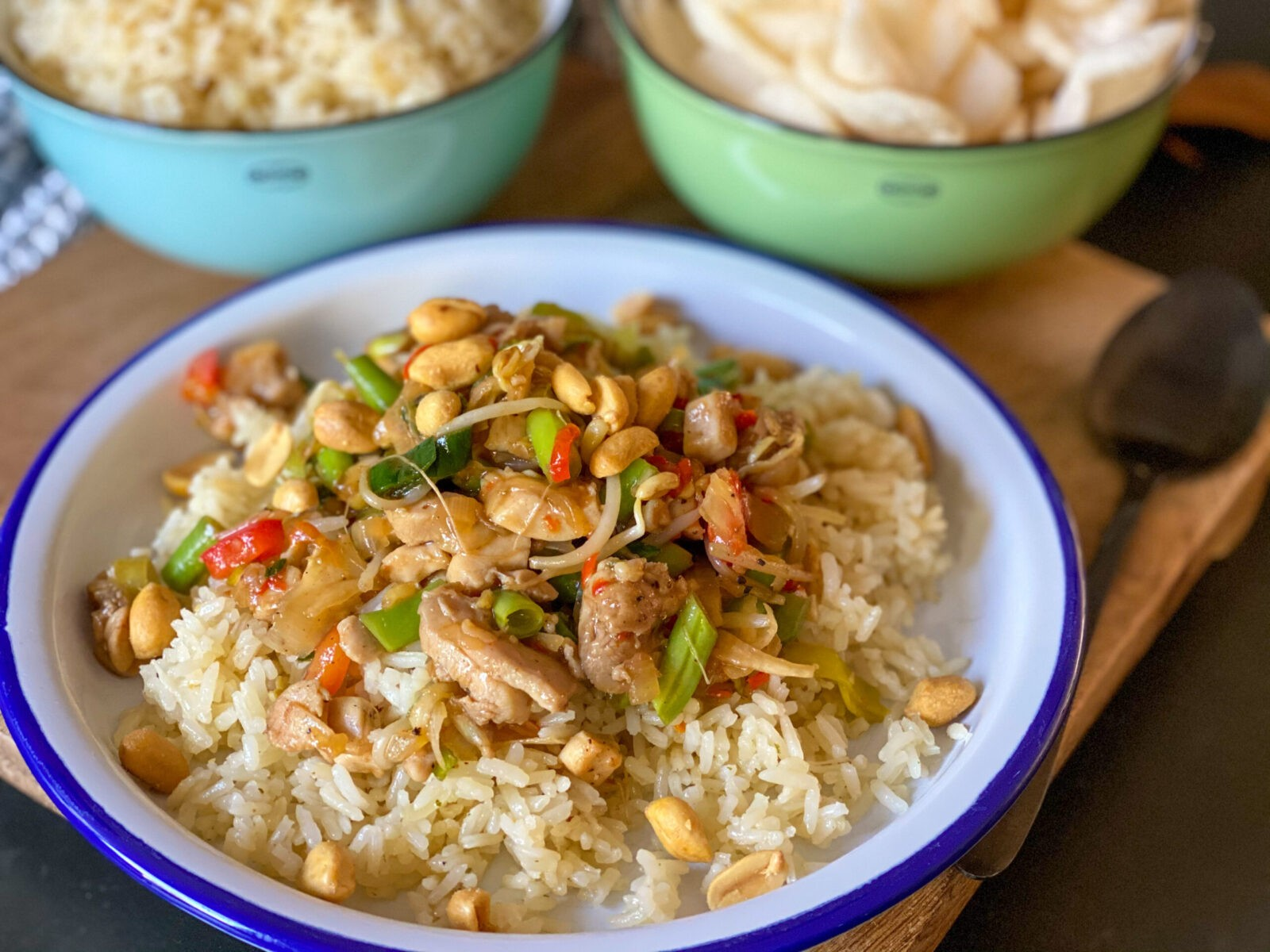 Chinese wok met kip en wokgroente