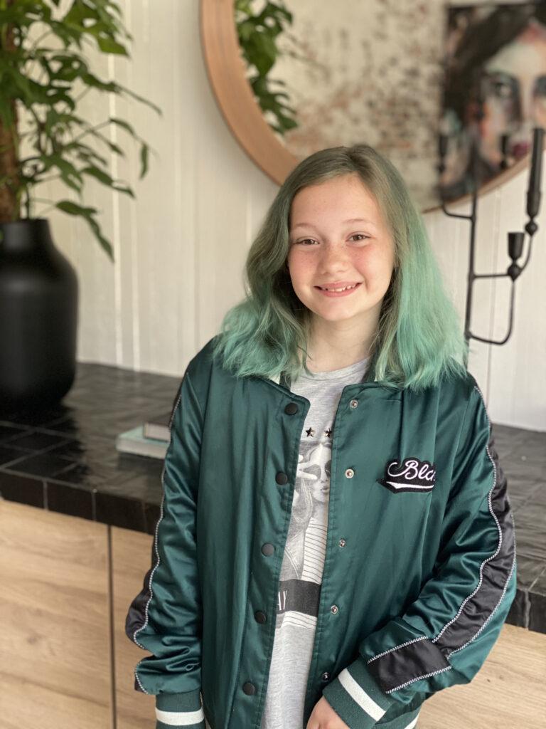 groen /blauw haar verven bij kinderen