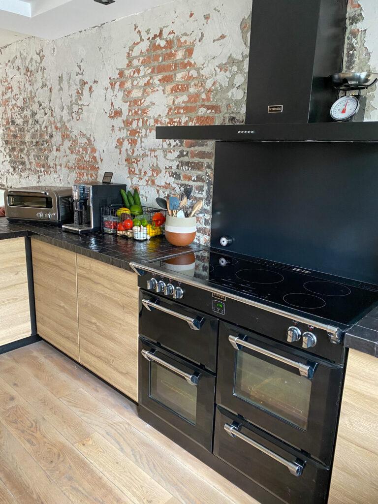 brickwall in de keuken