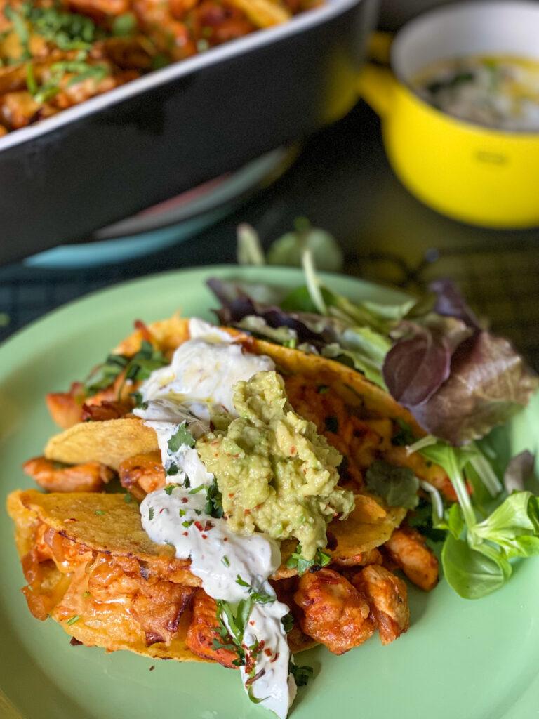 taco's met kruidige kip