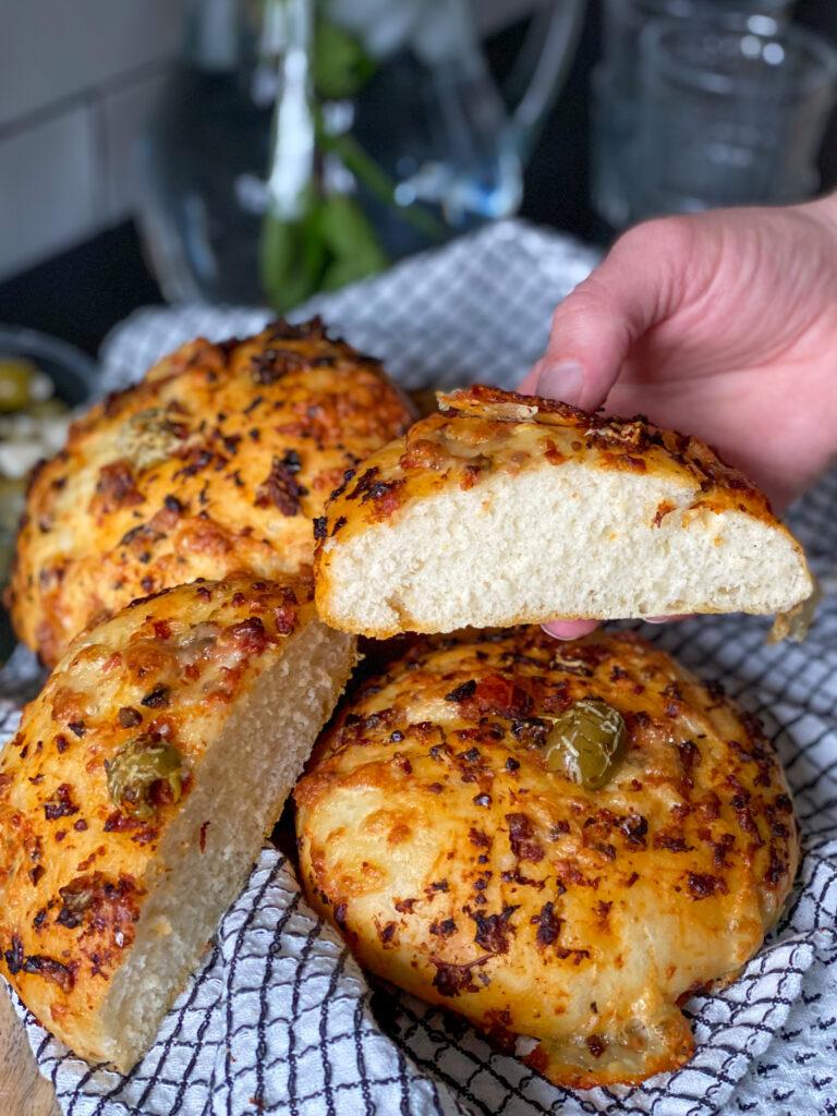 zachte broodjes met tapenade