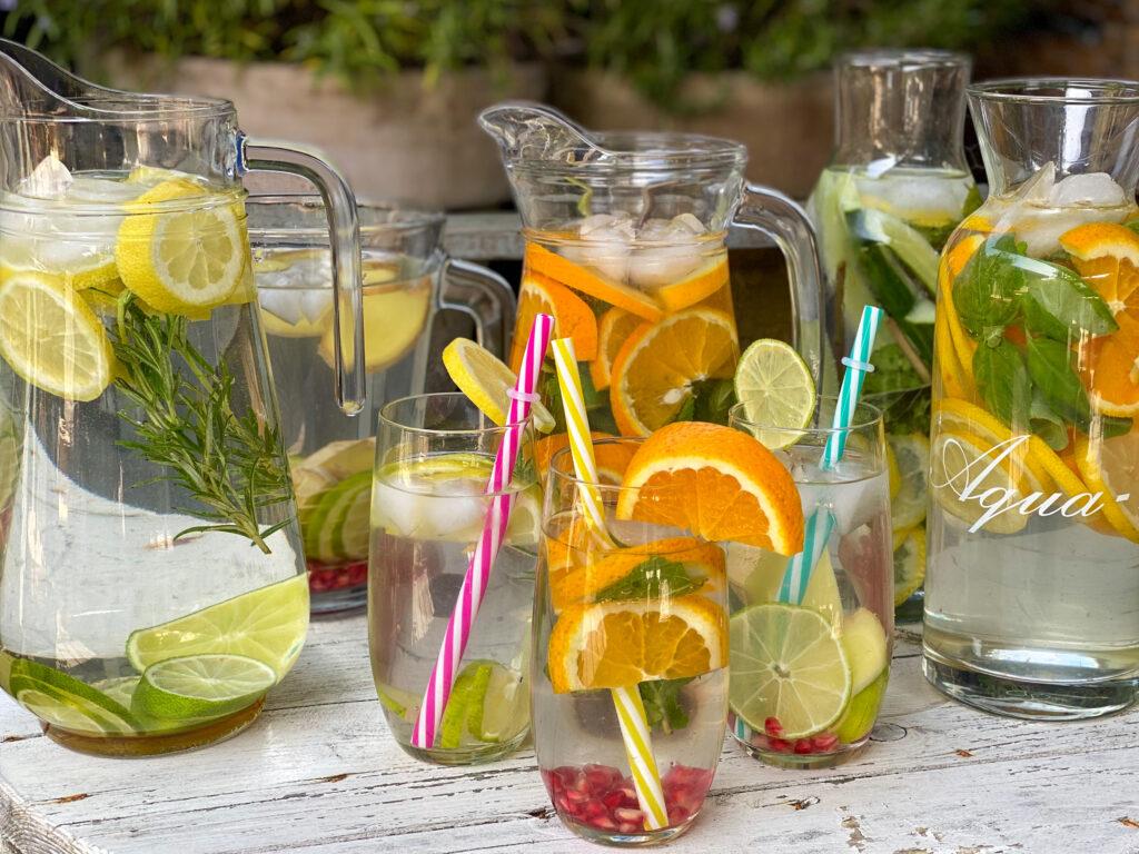 water met fruit maken en citrus