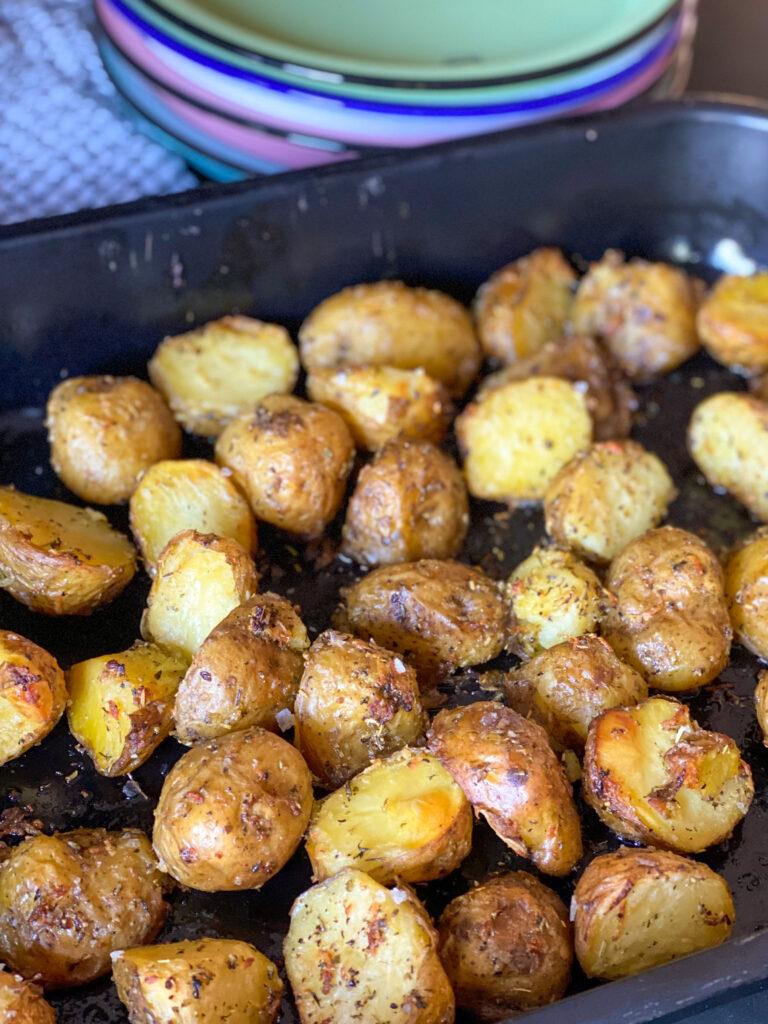 krokante aardappeltjes uit de oven