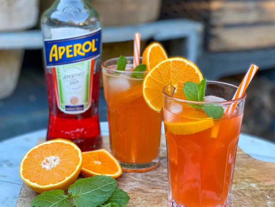 Aperol cocktail met bitter lemon