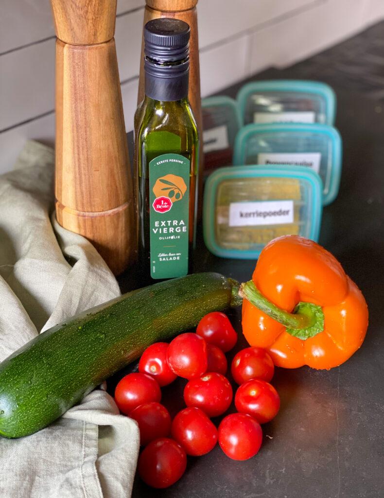 groenten in de oven grillen