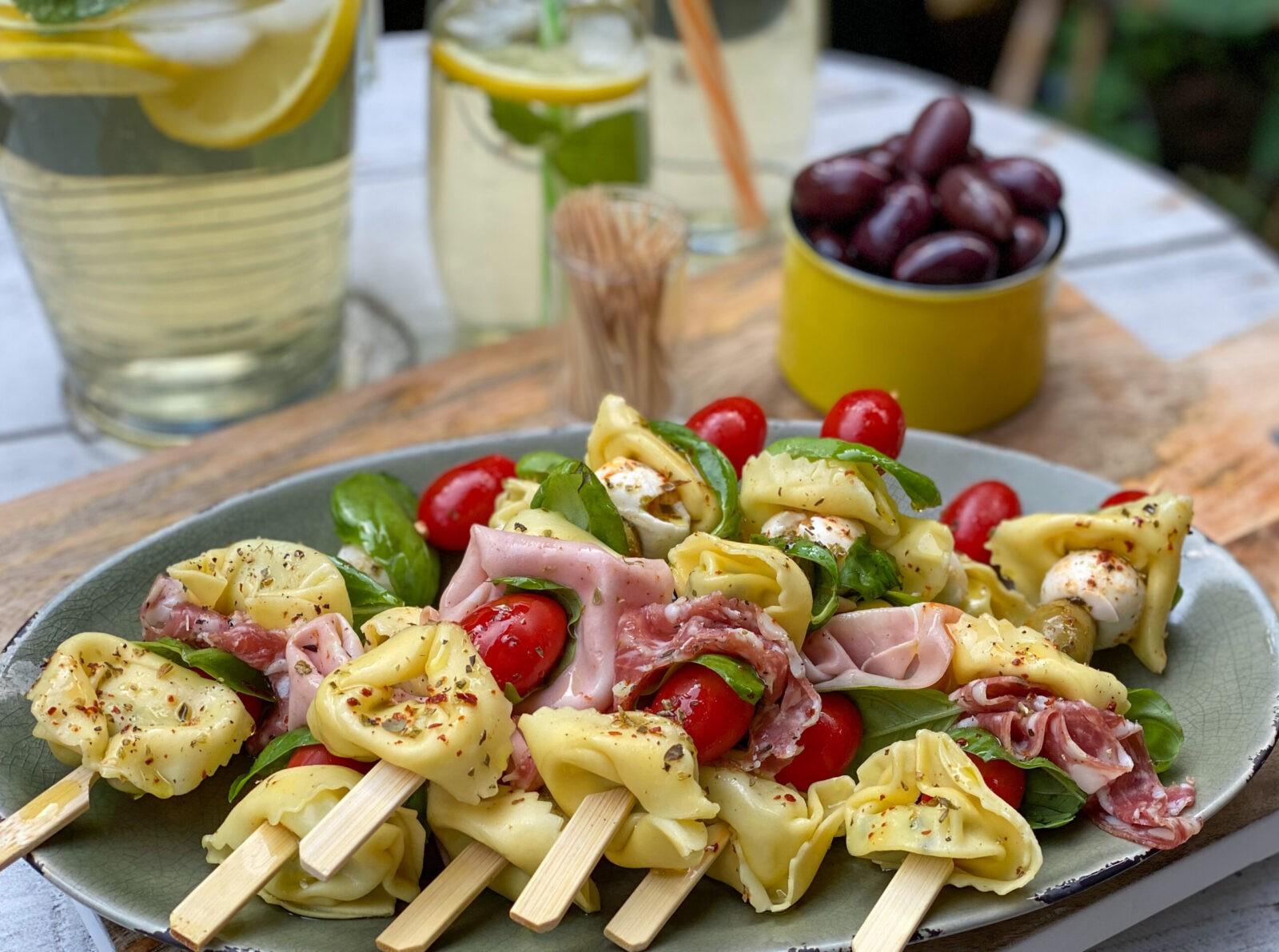 Italiaanse tortellini spiesjes