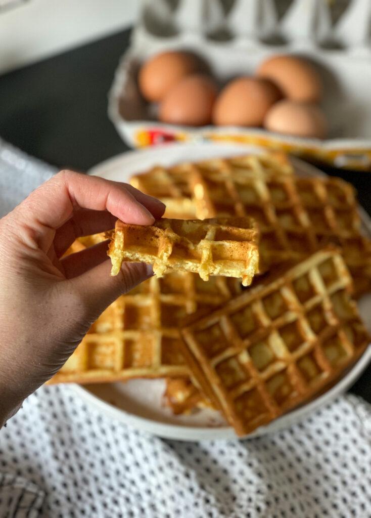 binnenkant wafel zelfrijzend bakmeel