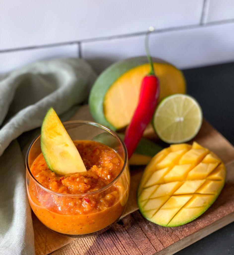 pittige mangosalsa