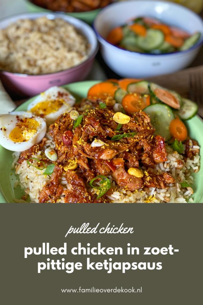 pulled chicken in ketjapsaus