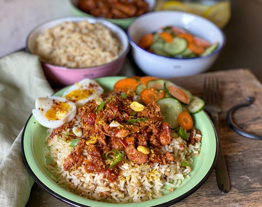 pulled chicken ofwel kip in ketjap saus