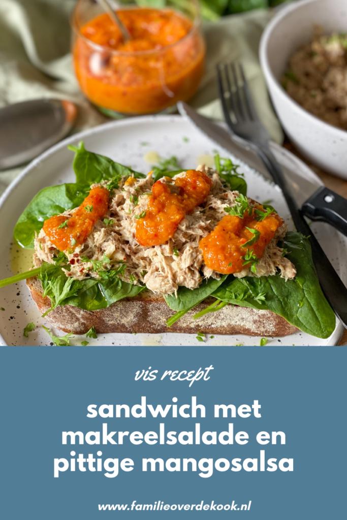 vis recept: sandwich makreelsalade