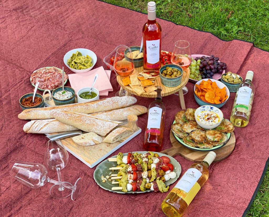 high wine stressvrij picknicken met Gallo Family Vineyards wijnen