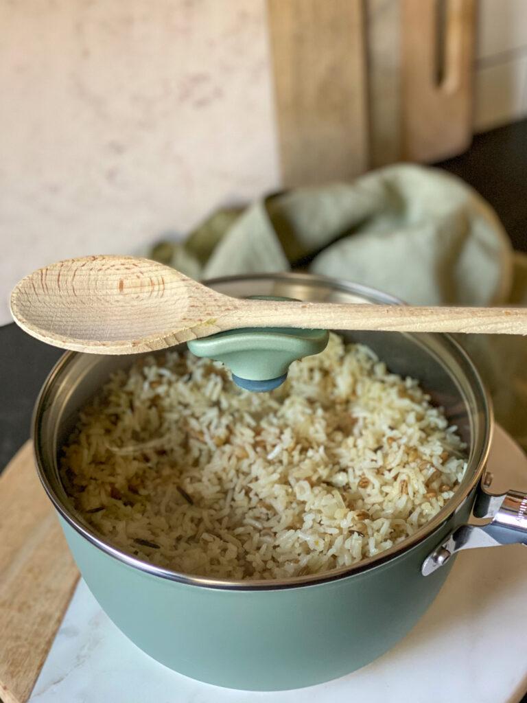 luchtige rijst koken