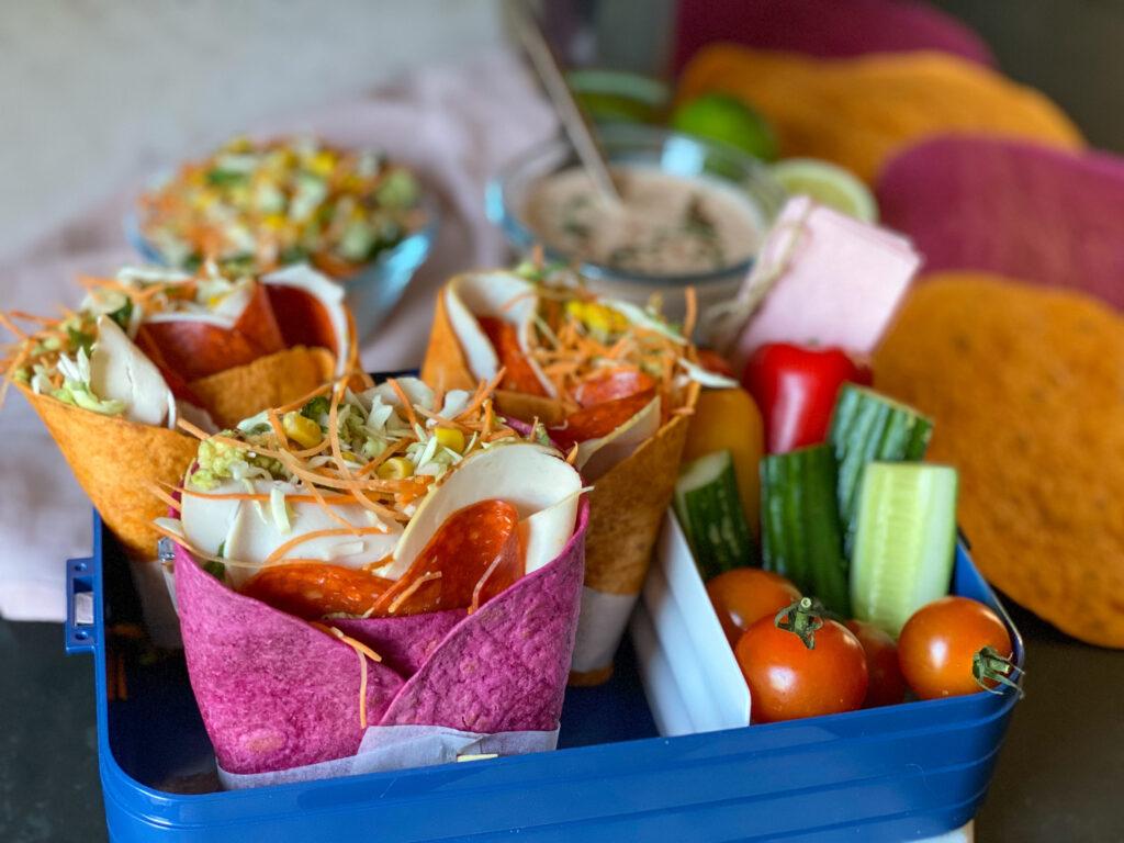 gezonde groente wraps met groente tortilla's van Santa Maria