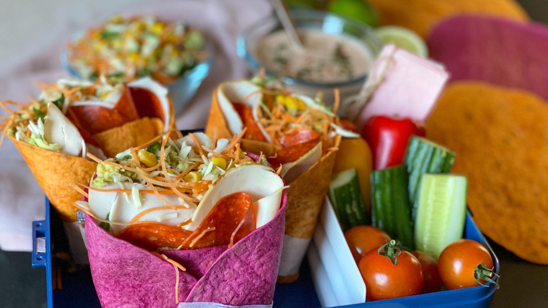 Verantwoorde lunch tortilla wraps: eet lekker veel groenten